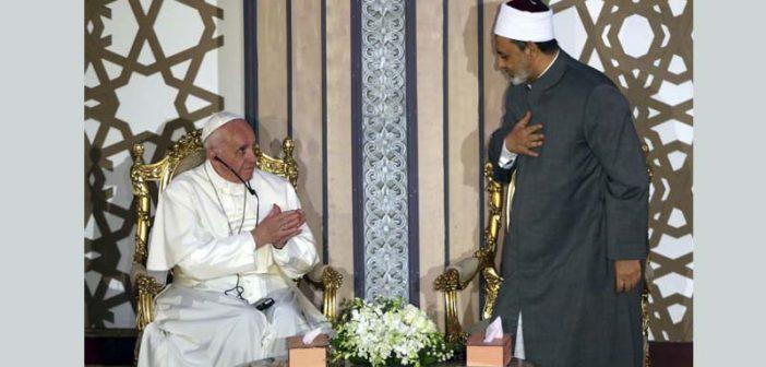 """Imán agradeció al Papa porque """"él dijo que la religión islámica no es terrorismo"""""""