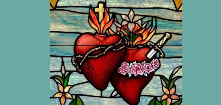 Contempla el Corazón de Jesús y de María